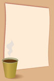 Coffee menu. Background. Blank background with coffee in front. Vector illustration Stock Photography