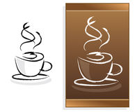 Coffee menu with abstract logo Stock Photography