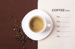 Coffee menu background Royalty Free Stock Photography