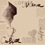 Coffee menu. Background for cafe menu. Coffee menu. Place for text Stock Image