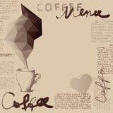 Coffee menu Stock Image