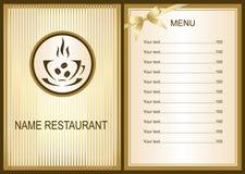 Menu design with Coffee  shop logo. Coffee  Menu. Menu of Cafe.  Brochure template for restaurant. Vector image Stock Photo