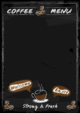 Coffee menu chalkboard style with copy space in vector Royalty Free Stock Photos