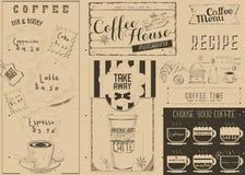 Coffee Menu Craft Placemat Stock Image