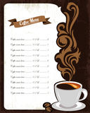 Coffee menu design Stock Images