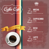 Coffee Menu Design Royalty Free Stock Photography