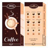 Coffee Menu Design Stock Photography