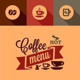 Coffee menu design elements Stock Photo