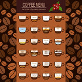 The coffee menu infographics, set elements for creating your own Royalty Free Stock Photo