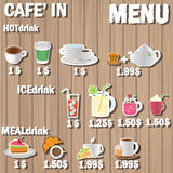 Coffee menu label Royalty Free Stock Images