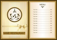 Menu design with Coffee  shop logo. Coffee  Menu. Menu of Cafe.  Brochure template for restaurant. Vector image Royalty Free Stock Photos