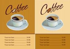 Coffee . menu Stock Images