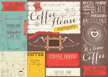 Coffee Menu Placemat Stock Photography