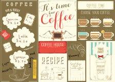 Coffee Menu Placemat Royalty Free Stock Image