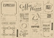 Coffee Menu Placemat royalty free illustration