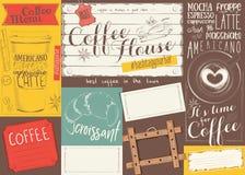 Coffee Menu Placemat Royalty Free Stock Photos