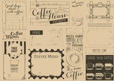 Coffee Menu Craft Placemat Stock Photography