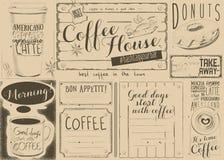 Coffee Menu Placemat Stock Photo