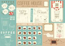 Coffee Menu Placemat Template Royalty Free Stock Image