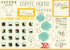 Coffee Menu Placemat Template Royalty Free Stock Photography