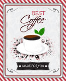 Coffee menu  poster Stock Images