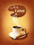 Coffee Menu for restaurant, cafe, bar on canvas art backround Royalty Free Stock Photo