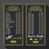 Coffee menu and restaurant menu template Stock Image