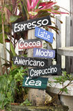 Coffee Menu Tab Color Garden Royalty Free Stock Photo