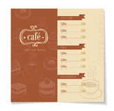 Coffee Menu Stock Photography