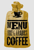 Coffee menu. Typographic retro poster for restaurant, cafe or coffeehouse. Vector illustration. Stock Images
