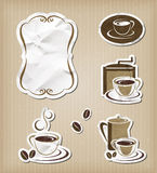 Coffee menu vintage set Royalty Free Stock Photos
