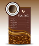 Coffee menu Royalty Free Stock Images
