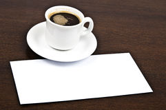 Coffee with message Royalty Free Stock Images