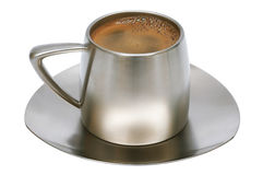Coffee in a metal cup Stock Image