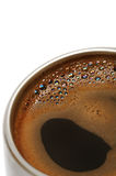 Coffee in a metal cup Stock Photos