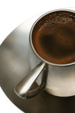 Coffee in a metal cup Stock Images