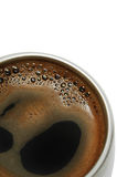 Coffee in a metal cup Royalty Free Stock Image