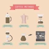 Coffee methods Stock Images