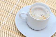Coffee with milk. Morning black coffee with milk Royalty Free Stock Image