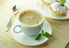 Coffee with milk Stock Photography