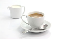 Coffee with milk. Coffee coffee with milk in white background Royalty Free Stock Photos