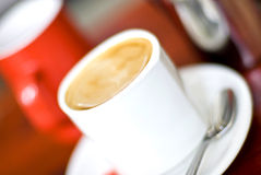 Coffee with milk Stock Image