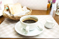 Coffee milk and breakfast Royalty Free Stock Photo