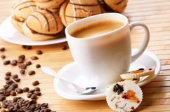 Coffee and milk chocolate candy Royalty Free Stock Images