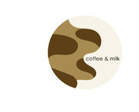 Coffee and milk. Circle sign of coffee and milk Royalty Free Stock Photo