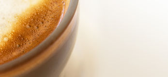 Coffee milk closeup - copy space Stock Image