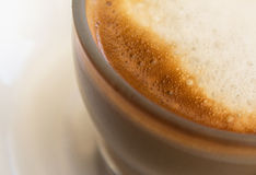 Coffee milk closeup - copy space Royalty Free Stock Photos