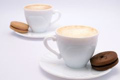 Coffee, milk and cream Royalty Free Stock Photo