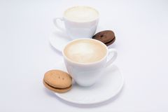 Coffee, milk and cream Royalty Free Stock Image
