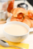Coffee and milk - selective focus Stock Photos